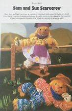 Sewing pattern Jean Greenhowe Sam et Sue Scarecrow Rosette Doll Toy 48 cm Tall