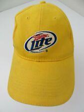 Miller Lite Bear Yellow Adjustable Adult Ball Cap Hat