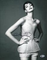 HOT SEXY ANNE HATHAWAY SIGNED 11X14 PHOTO AUTHENTIC AUTOGRAPH BECKETT COA H