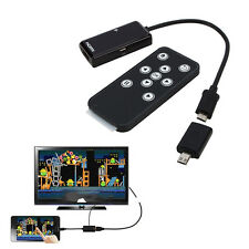 MHL Micro USB to HDMI HDTV Adapter + Remote Control Fr Samsung Galaxy S5 Sony