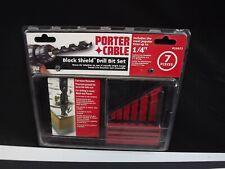 "Porter Cable 29073 1/4"" Black Shield Drill Bit Set NEW"