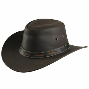 Adults Riding Smoothed Western Hat Cowboy Headwear Cap Leather Outdoor Country
