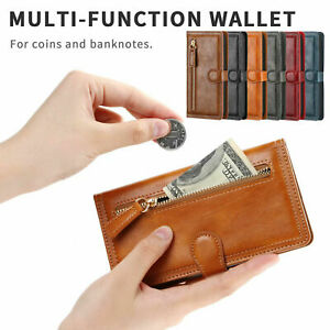 Zipper Magnetic Flip Leather Wallet Case Cover For iPhone 11 Pro Max XS XR 8 7 6