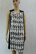 WITCHERY Handmade Sequins Houndstooth Shift Dress 10 Evening M S