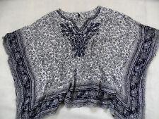 Pepe Jeans hippie flattertunika Gilda azul blanco bordado talla xs/s top 718