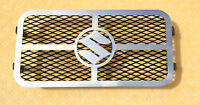 SUZUKI GSF600 BANDIT MIRROR POLISH STAINLESS STEEL OIL COOLER RADIATOR COVER R12