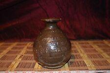 "Wing Lee Wai Hong Kong Liquor Bottle Jug Ceramic Pottery 1930's 6""x4"""