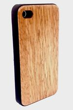 IPHONE 4/4S WALNUT WOOD CASE GENUINE REAL WOOD HARD BACK SLIM LUXURY COVER