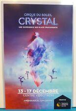 ORIGINAL POSTER 2017 rare CRYSTAL SHOW from CIRQUE DU SOLEIL Quebec Canada print