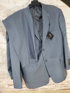 Giorgio Cerruti Super 100's PARIS SBX2 Mens Gray Business Suit 46S 40W NEW
