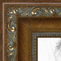 ArtToFrames 1.4 Inch Dark Gold with Beads Wood Picture Poster Frame D10051