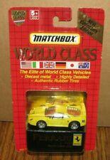 Matchbox World Class #10 FERRARI F40 Toy Car Collector Edition 11790 YELLOW 1991