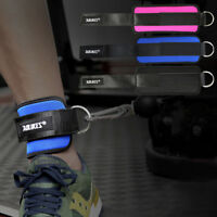 Foot Ankle Strap w/D-Shape Buckle for Cable Machine Attachment Fitness Training