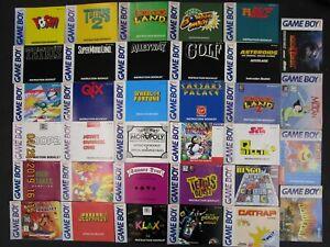 NINTENDO GAME BOY - LOT OF 39 ORIGINAL MANUALS!! - RANDOM ASSORTMENT!