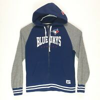 Toronto Blue Jays Roots Canada Mens Zip Up Sweater Size Large MLB Genuine Merch