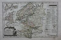 NORTH & EAST EUROPE, BALTIC, RUSSIA, original antique map, Von Reilly, 1791