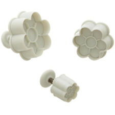 Ateco 6-Petal Plunger Cutters - 1957, Set of 3 Cutters