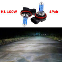 2pc H11 12V 100W Xenon White 6000k Halogen Blue Car Head Light Lamp Globes Bulbs