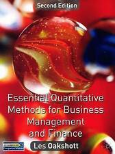 """VERY GOOD"" Essential Quantitative Methods for Business, Management and Finance,"