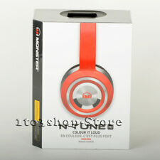 Monster NTune N-Tune HD On-Ear Headphones w/Remote Control Talk Headset Race Red