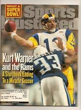 2000 Sports Illustrated Magazine February 7th St Louis Rams WIn NFL championship