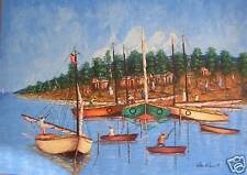 Beautiful Original Seascape by Haitian Artist Wilder ST LOUIS (Reduced)