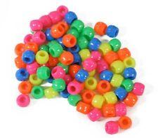 Craft Beads Acrylic Pony Neon Kids Crafts Jewelry Lot of 480