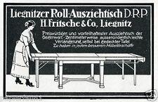 Möbel Fritsche Liegnitz Legnica Reklame 1914 Tisch Ausziehtisch Werbung Ad