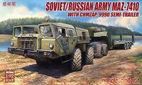 Modelcollect Russian Army MAZ-7410 ChMZAP-9990 Semi-Trailer 1/72 Truck UA72048