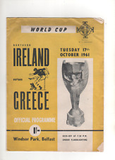 World Cup Qualifier - Northern Ireland v Greece - 17th October 1961