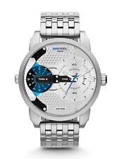 New Diesel DZ7305 Mens Mini Daddy Designer Silver Watch - UK Seller