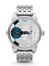 New Diesel Mens Mini Daddy Silver Stainless Steel Watch DZ7305