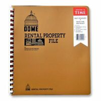 "Dome Rental Property File - 11"" X 9.75"" Sheet Size - 1each (DOM920)"