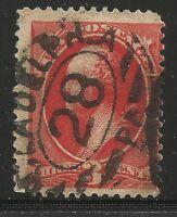 US Scott #214, Single 1887 George Washington 3c FVF Used