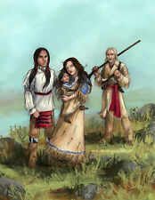 Cherokee Native American Plains Indian Western Frontier art print Brandy Woods
