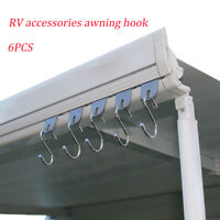 Motorhome and Caravan Awning Accessory Rail Hook Hanger Ring 6 Pack