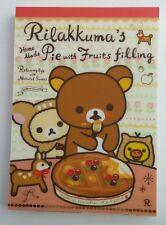 San-x Rilakkuma Pie Fruit Deer Woodland Large Memo Pad stationery stickers