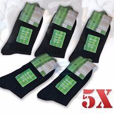 5 X Pairs Bamboo Fibre Black Men Socks Natural Healthy Odor Resistant BULK