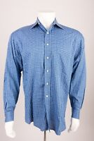 Fabio Inghirami Men's Shirt Size 15.5 / 39 Blue White Stripe Button Up Dress