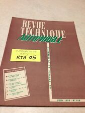 Revue Technique Automobile Buick V8 1953 à 1955 + evolution 4 CV éd. 55