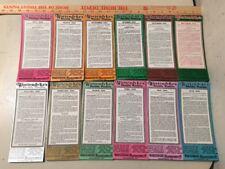Lot Of 12 Wortendykes Mfg Co Advertising Blotters Richmond VA Illustrious Virg.