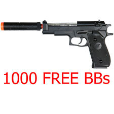 Toy Gun Airsoft Double Eagle Pistol 300 FPS Metal Spring FREE BBs M22 NEW