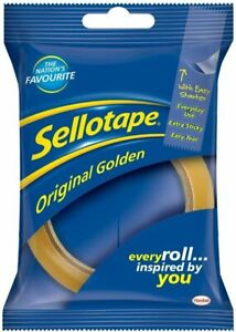 Sellotape Original Golden Sticky Tape Roll Multi-Purpose- 24mm x 50m