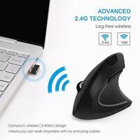 Vertical Mouse PowerBear MV014 Ergonomic Wireless Mouse 2.4GHz,3 Adjustable DPI