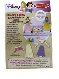 Melissa and Doug Disney Magnetic Snow White And Sleeping Beauty Wooden Dress Up