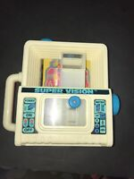 Vintage Tomy Super Vision Toy Retro 1980s Rare Educational Kids Viewing Machine