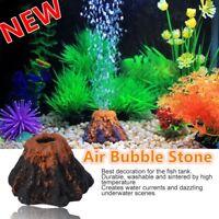 Fish Tank Aquarium Rockery Volcano Shape Air Bubble Stone Ornament Decoration EL
