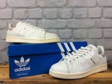ADIDAS UK 5 EU 38 STAN SMITH WHITE GREY BEIGE LEATHER TRAINERS CHILDRENS LADIES