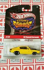 Hot Wheels Phil's Garage '68 Plymouth Barracuda Yellow * Chase * NIP 1:64 Scale