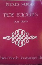 Three Eclogues Piano Sheet Music Poem Pastoral Score Musical Instrument #3D225